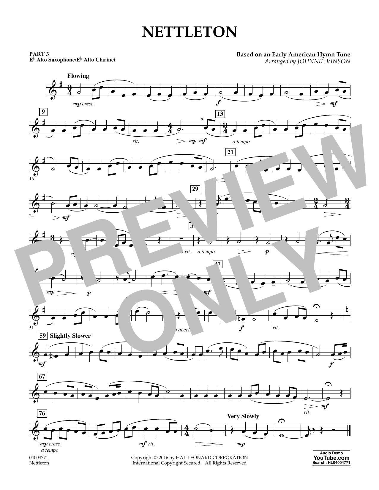 Nettleton - Pt.3 - Eb Alto Sax/Alto Clar. (Flex-Band)