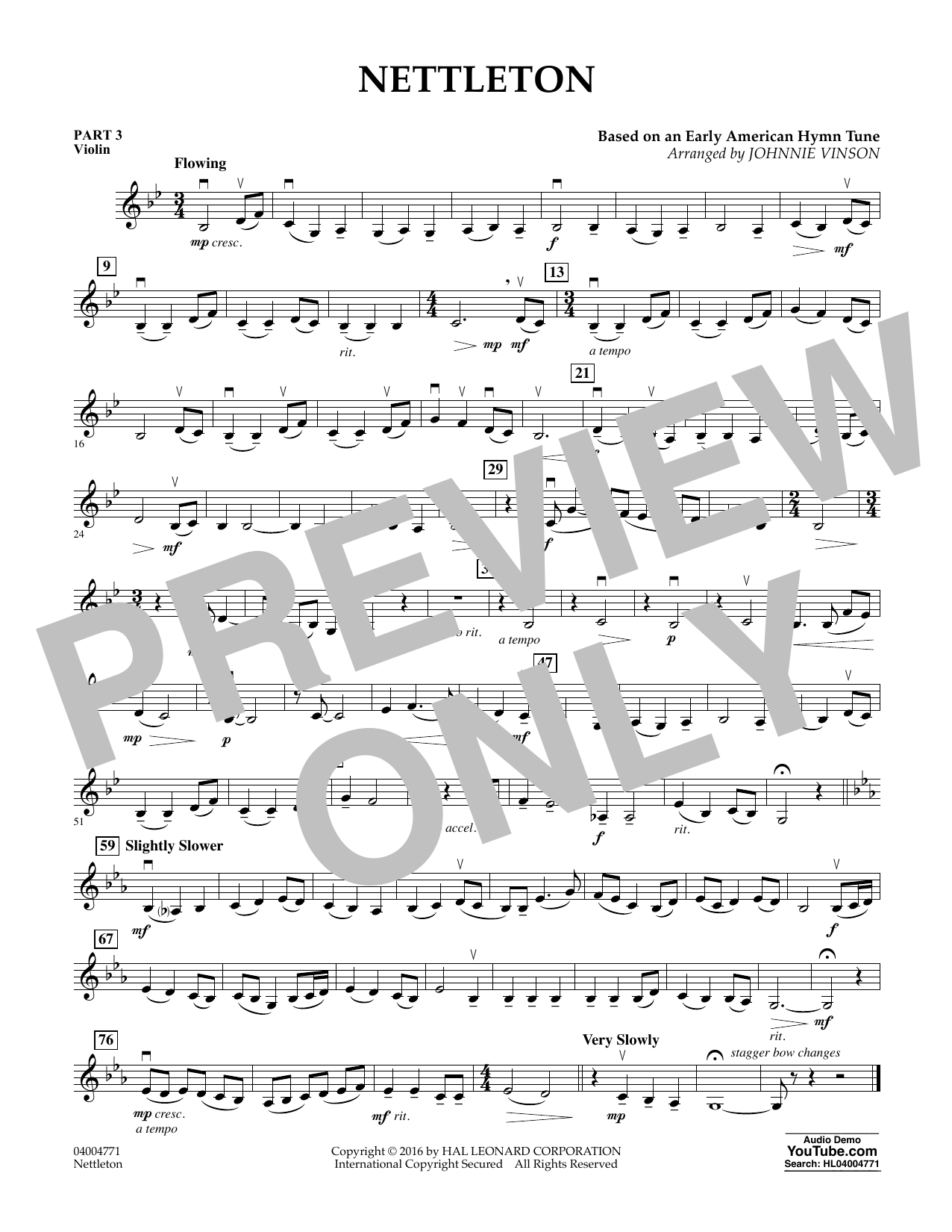 Nettleton - Pt.3 - Violin (Flex-Band)