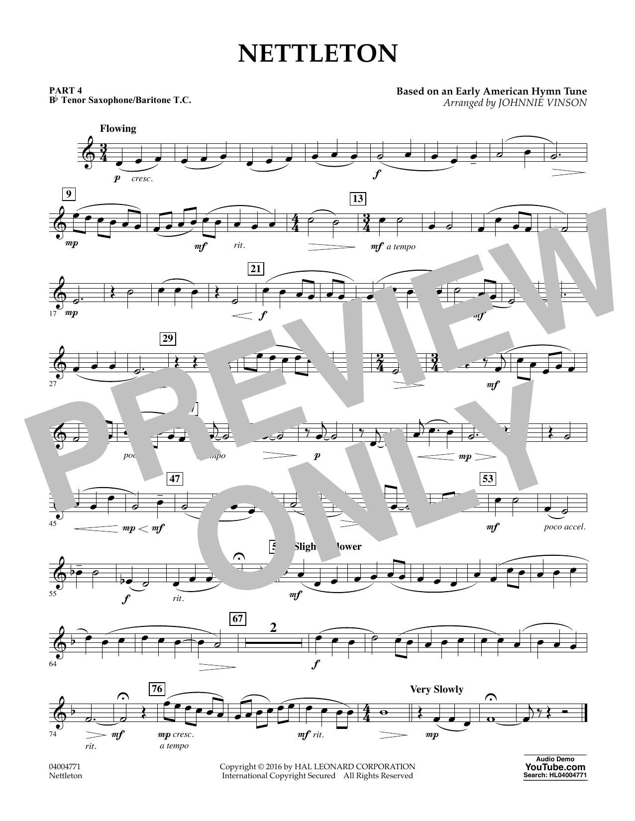 Nettleton - Pt.4 - Bb Tenor Sax/Bar. T.C. (Flex-Band)