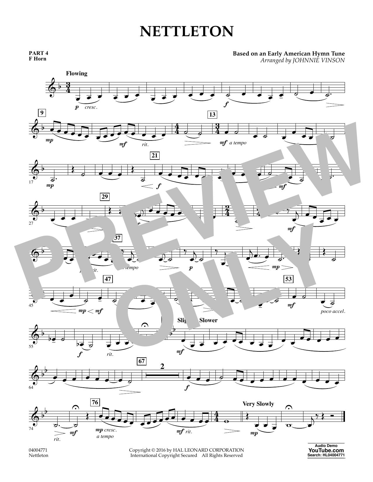 Nettleton - Pt.4 - F Horn (Flex-Band)