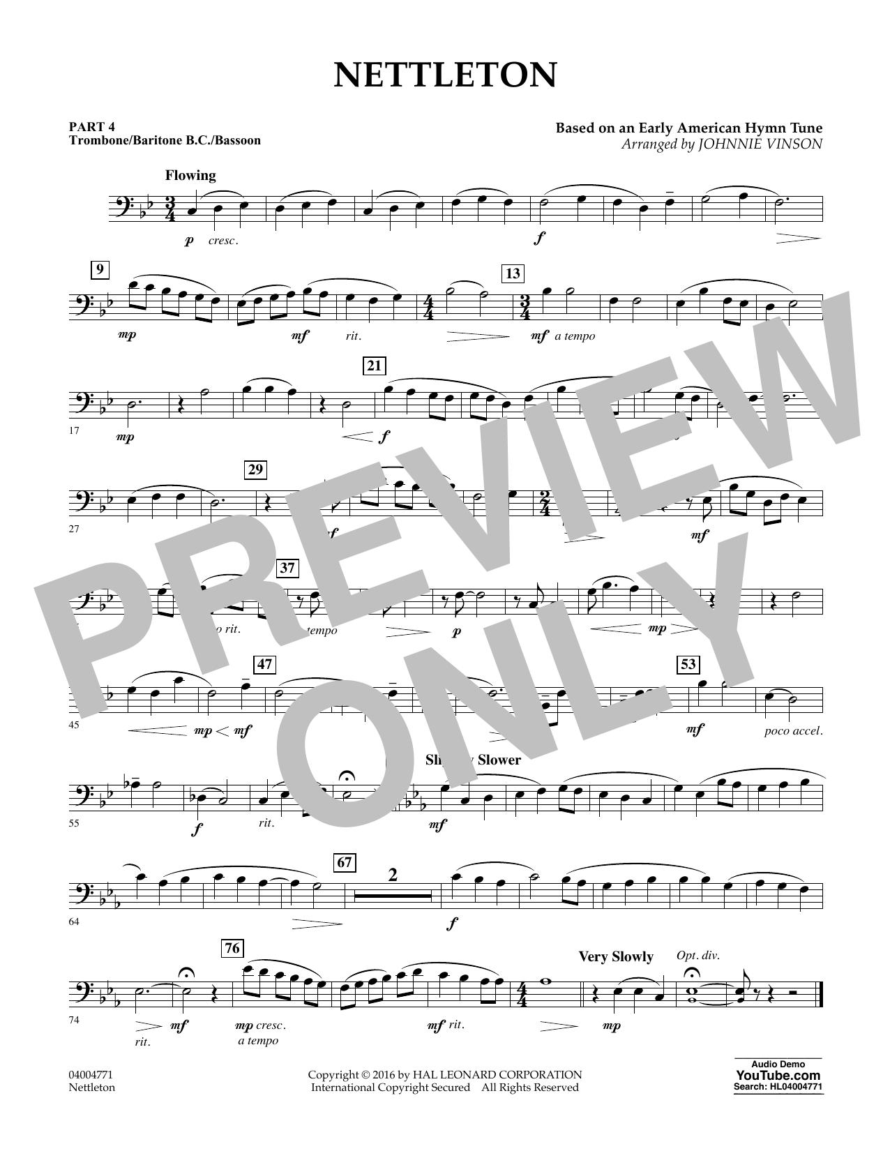 Nettleton - Pt.4 - Trombone/Bar. B.C./Bsn. (Flex-Band)