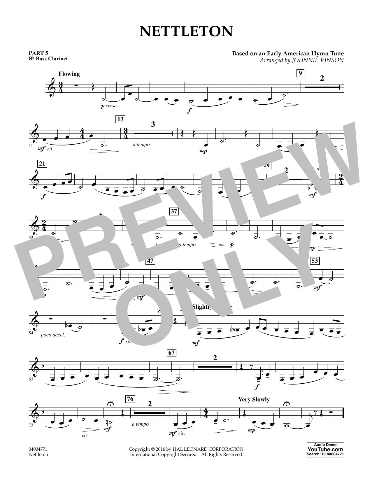 Nettleton - Pt.5 - Bb Bass Clarinet (Flex-Band)