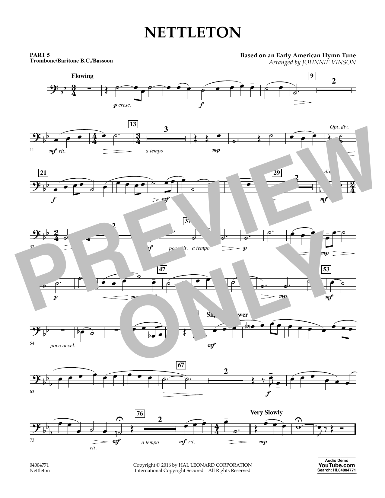 Nettleton - Pt.5 - Trombone/Bar. B.C./Bsn. (Flex-Band)