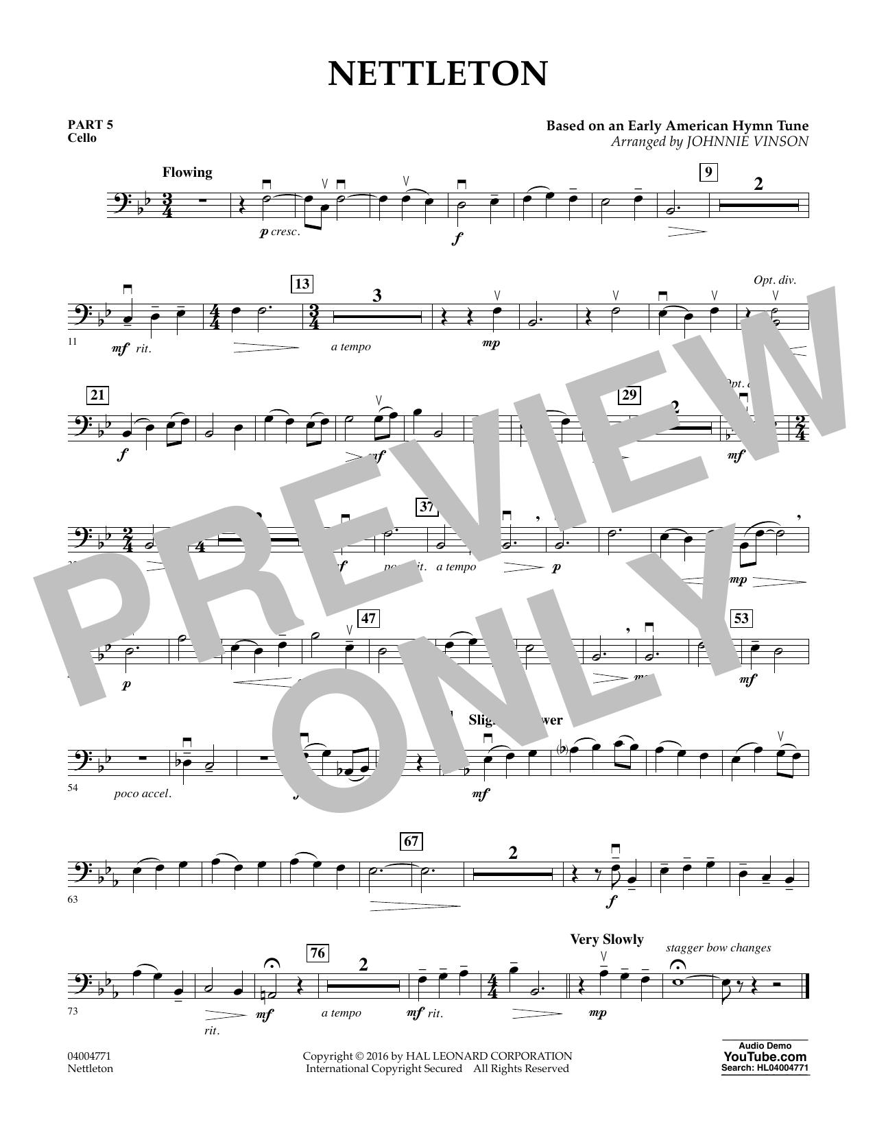 Nettleton - Pt.5 - Cello (Flex-Band)