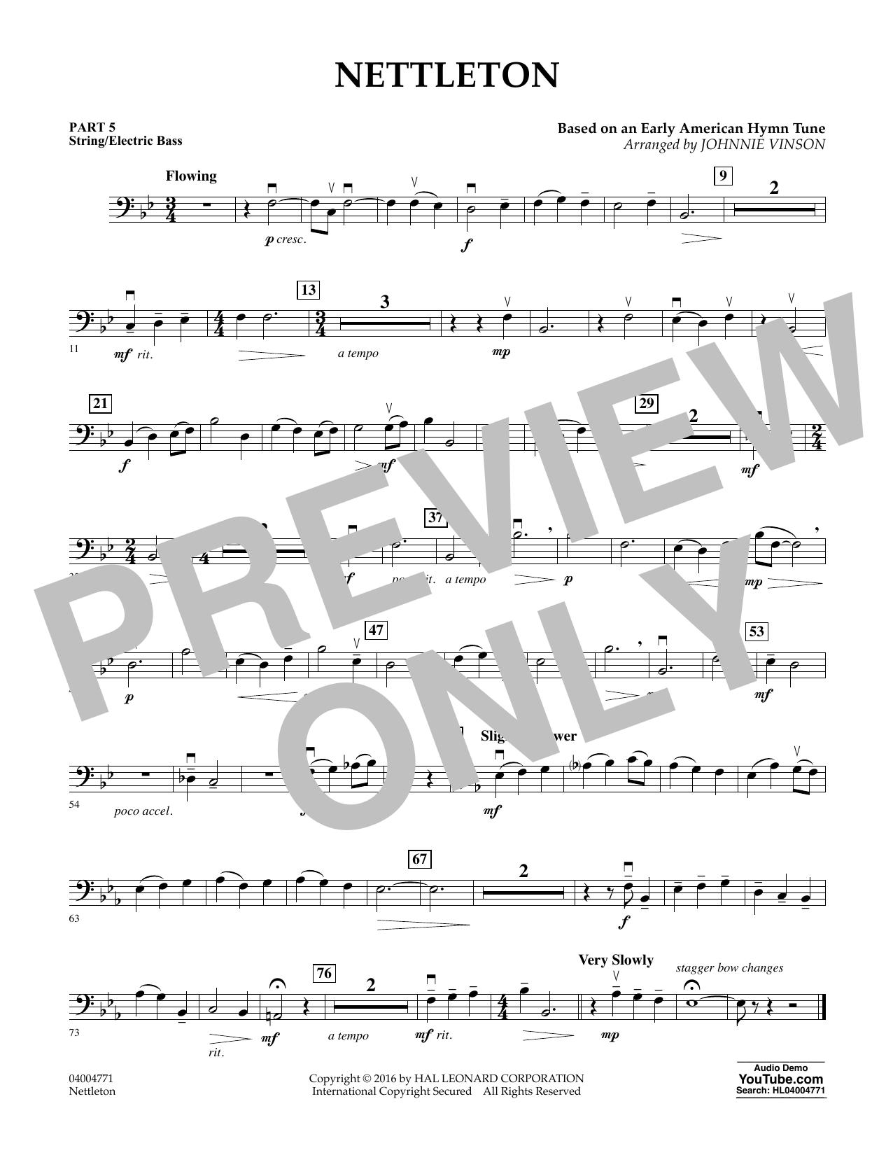 Nettleton - Pt.5 - String/Electric Bass (Flex-Band)