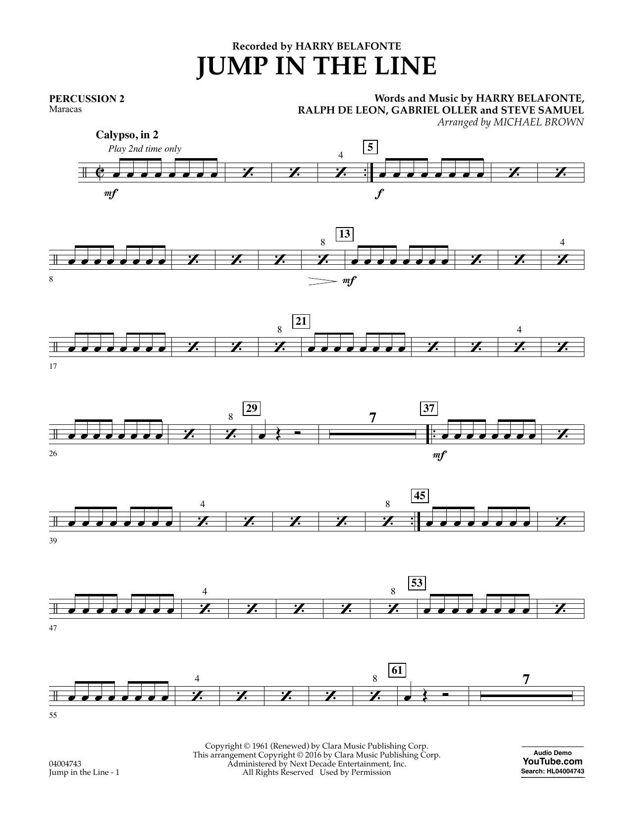 Jump in the Line - Percussion 2 (Concert Band)