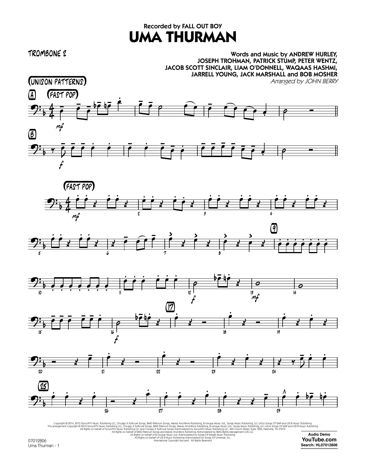 Uma Thurman - Trombone 2 (Jazz Ensemble)