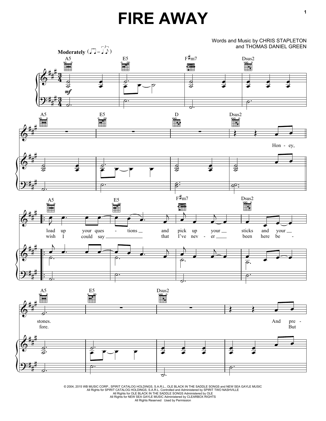 Fire away sheet music direct sheet preview fire away hexwebz Gallery