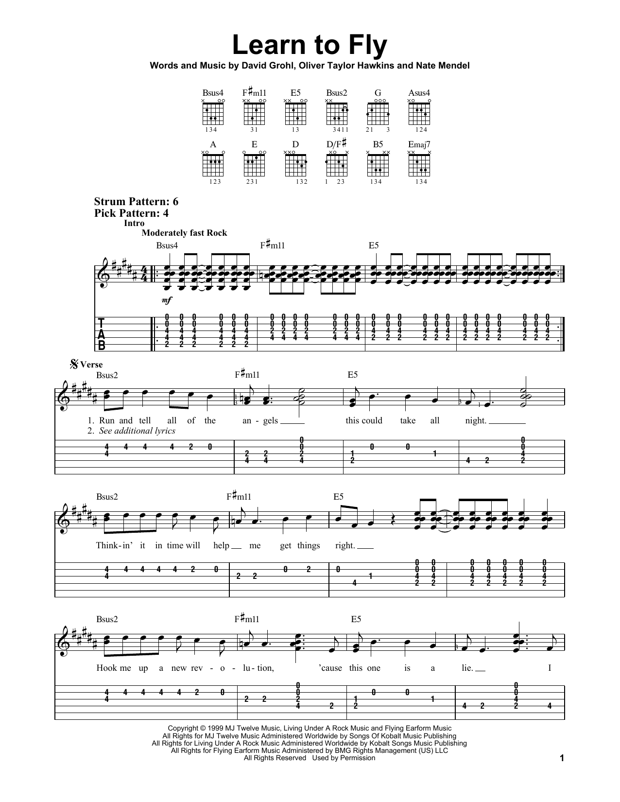 Foo Fighters - Band On The Run Tabs - AZ Chords