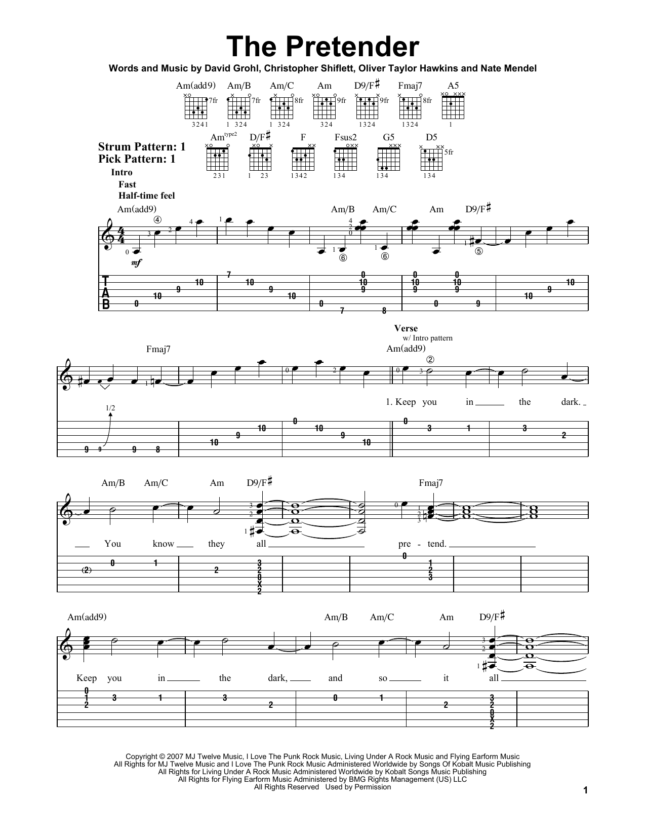 The Pretender (Easy Guitar Tab)