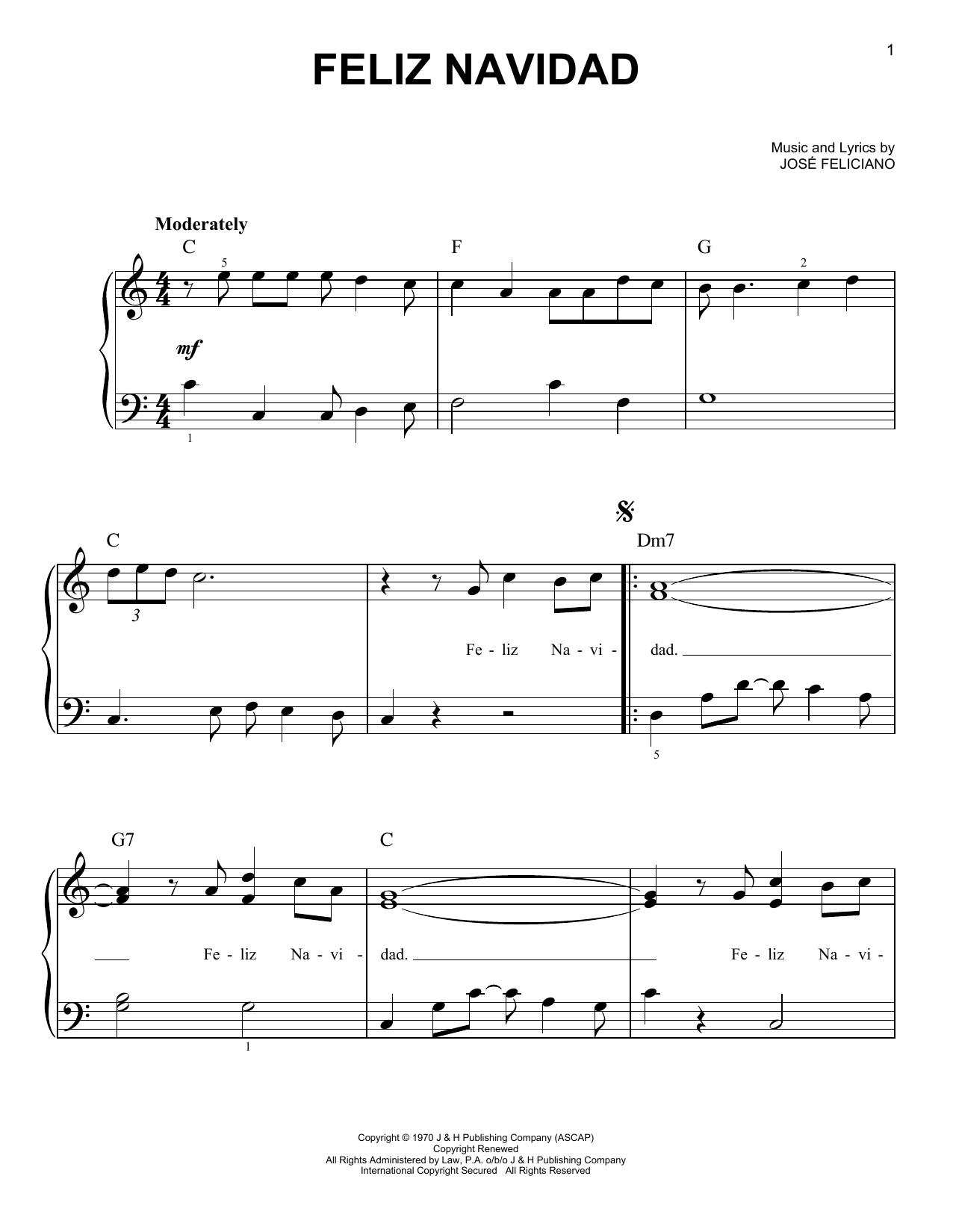 Feliz Navidad (Easy Piano)