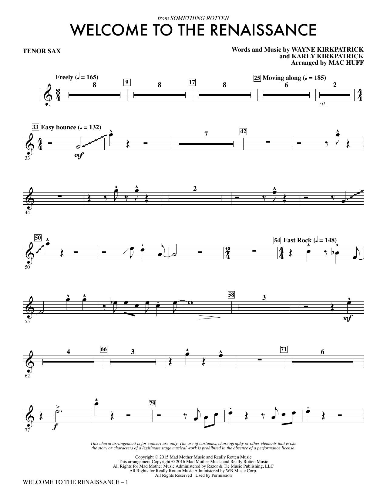 Welcome to the Renaissance - Tenor Sax Sheet Music