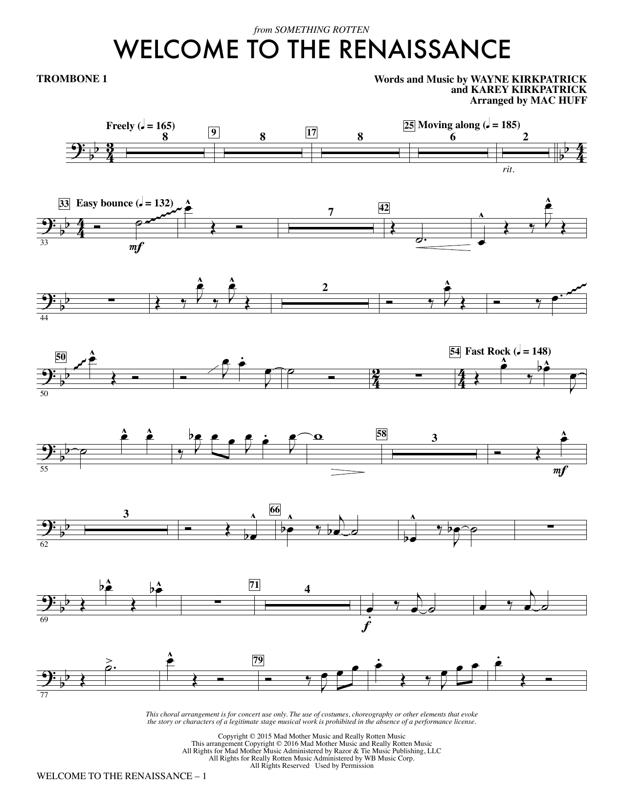 Welcome to the Renaissance - Trombone 1 Sheet Music