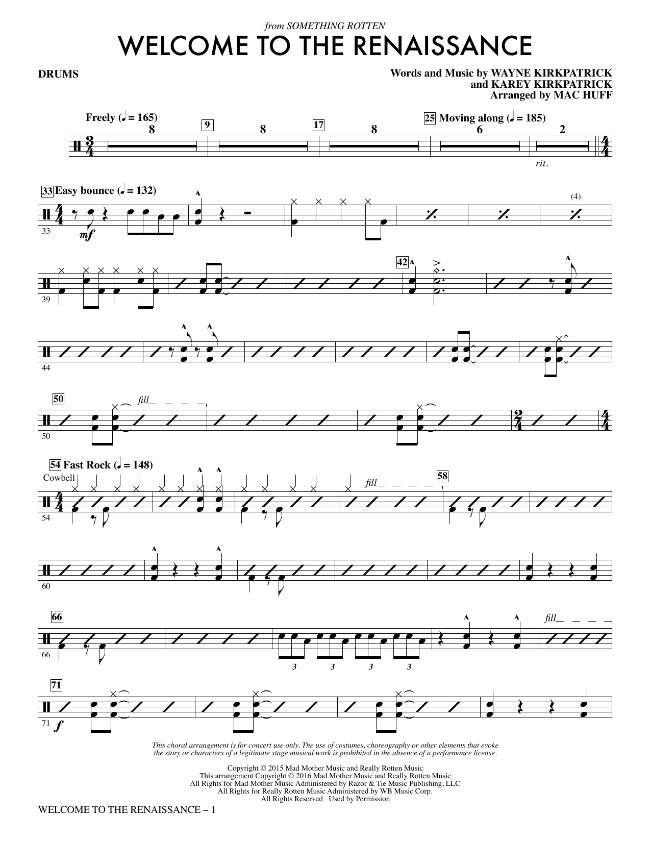 Welcome to the Renaissance - Drum Set Sheet Music