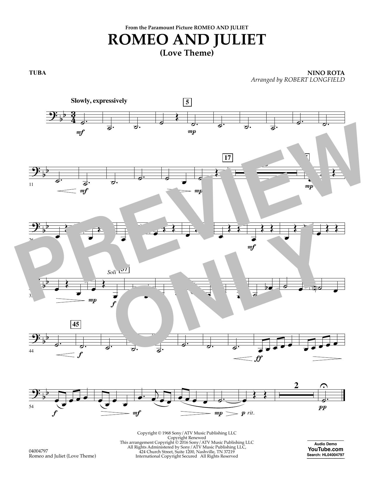 Romeo and Juliet (Love Theme) - Tuba (Concert Band)