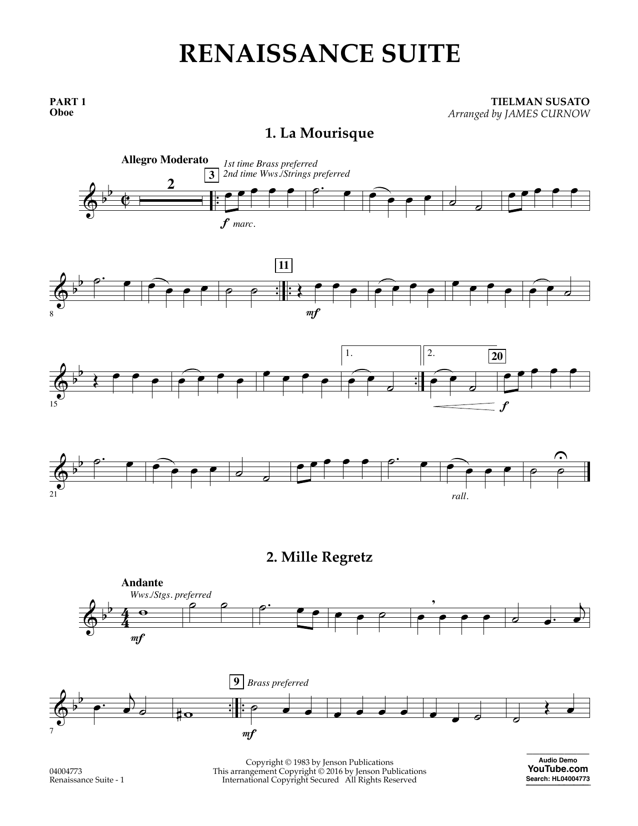 Renaissance Suite - Pt.1 - Oboe (Flex-Band)