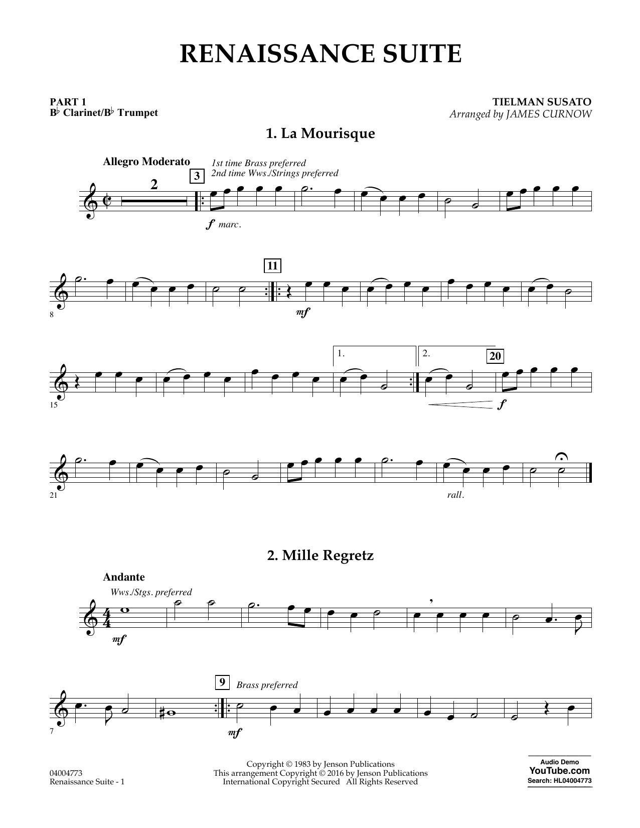 Renaissance Suite - Pt.1 - Bb Clarinet/Bb Trumpet (Flex-Band)