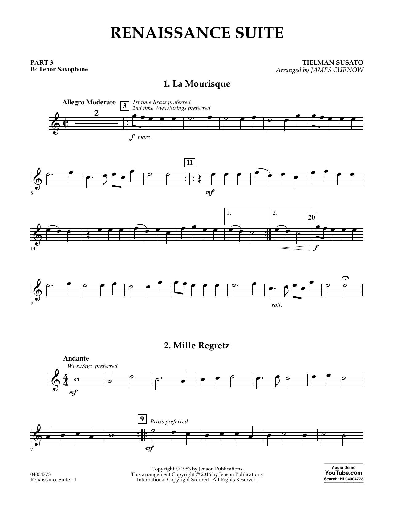 Renaissance Suite - Pt.3 - Bb Tenor Saxophone (Flex-Band)