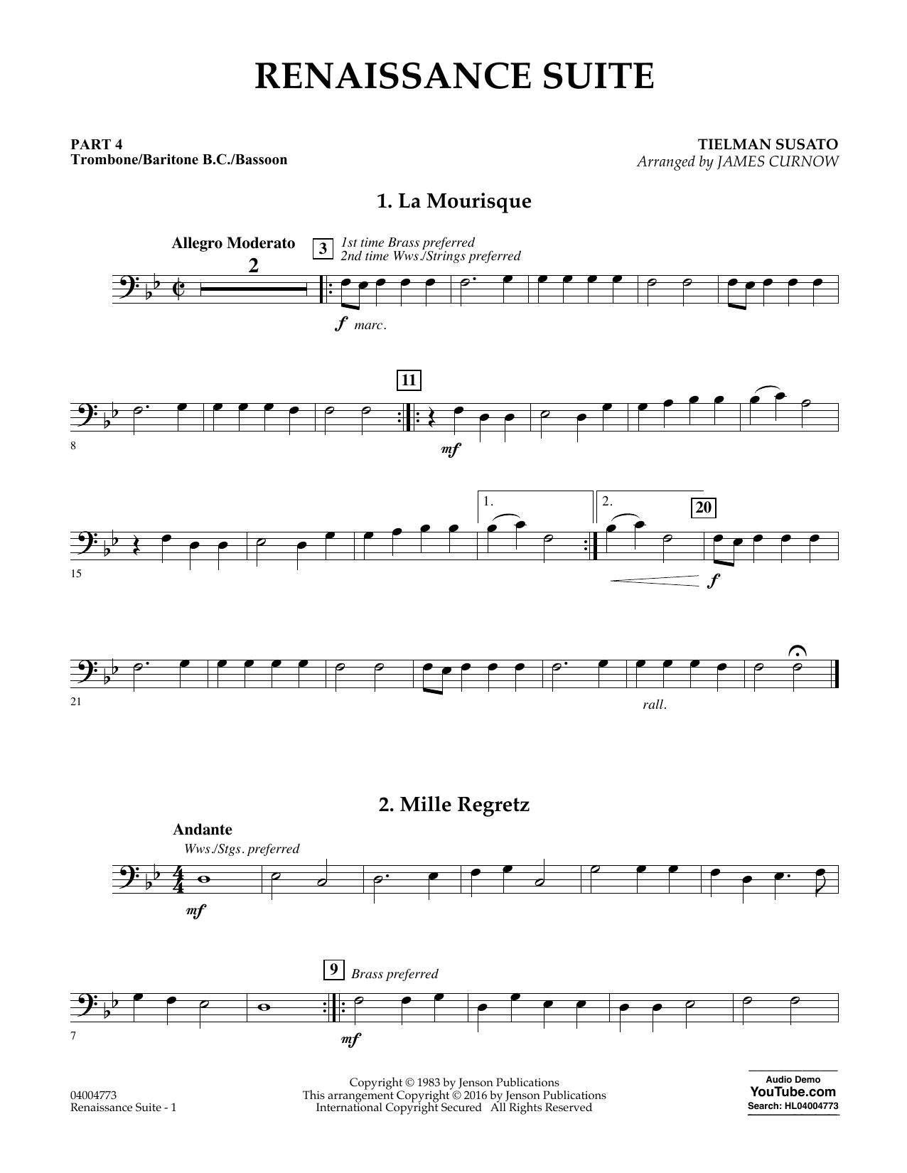 Renaissance Suite - Pt.4 - Trombone/Bar. B.C./Bsn. (Flex-Band)