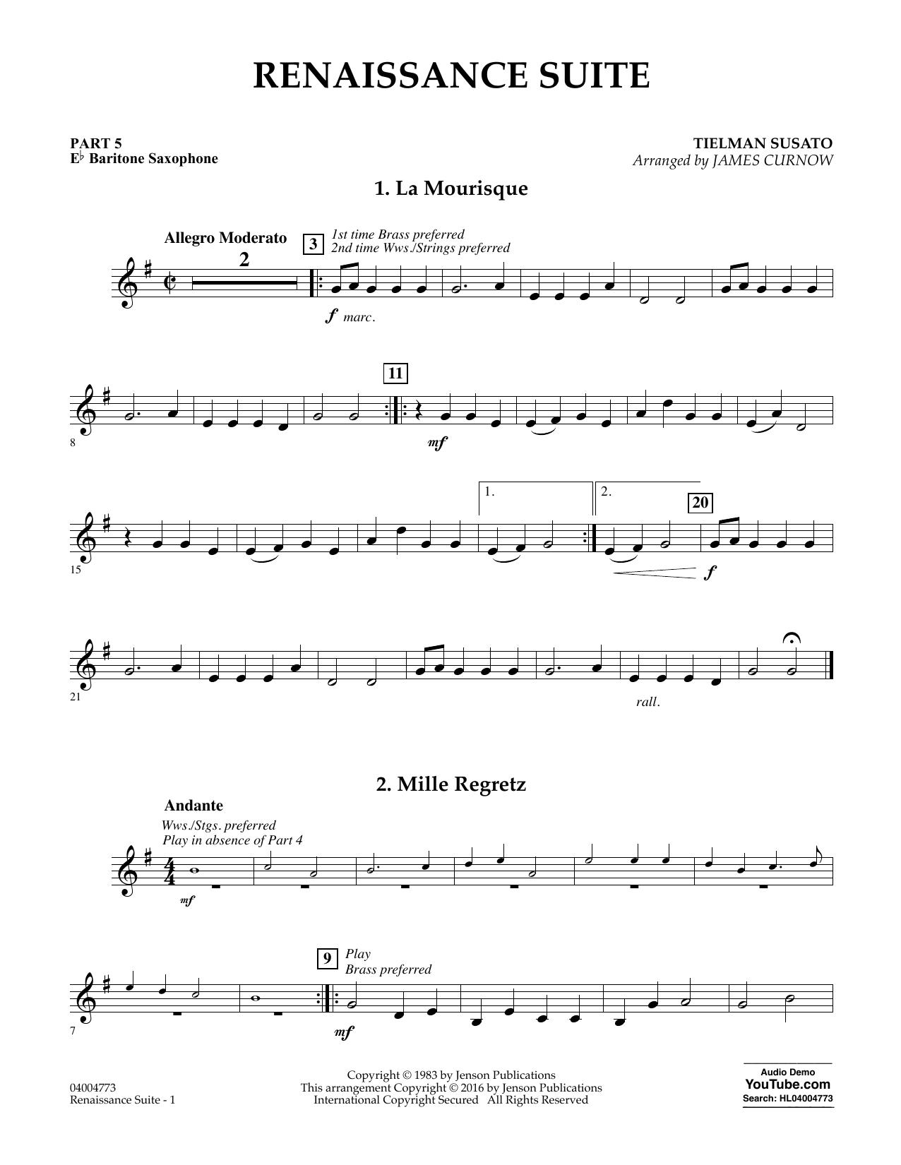 Renaissance Suite - Pt.5 - Eb Baritone Saxophone (Flex-Band)