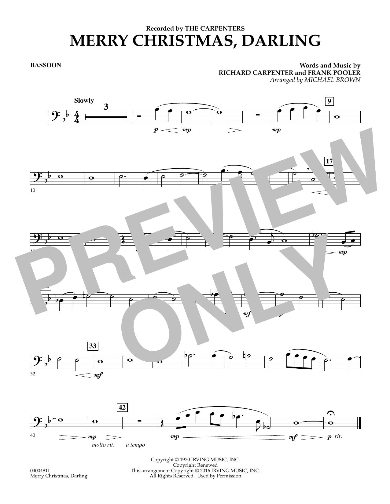 Merry Christmas, Darling - Bassoon (Concert Band)