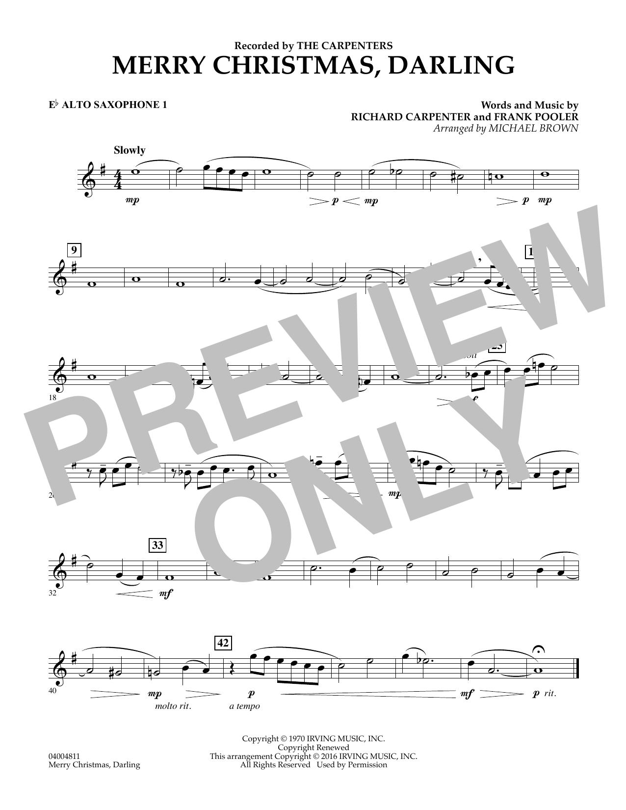 Merry Christmas, Darling - Eb Alto Saxophone 1 (Concert Band)