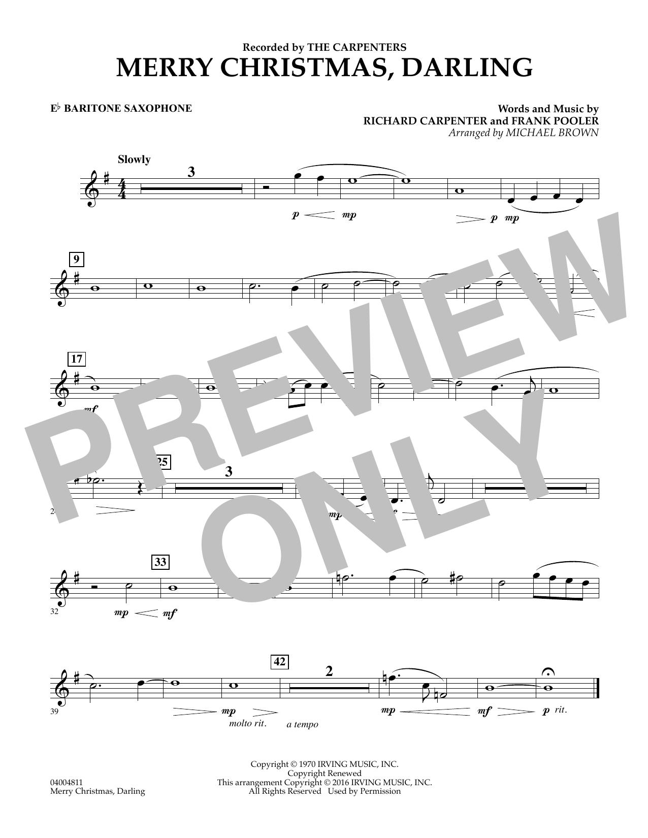 Merry Christmas, Darling - Eb Baritone Saxophone (Concert Band)