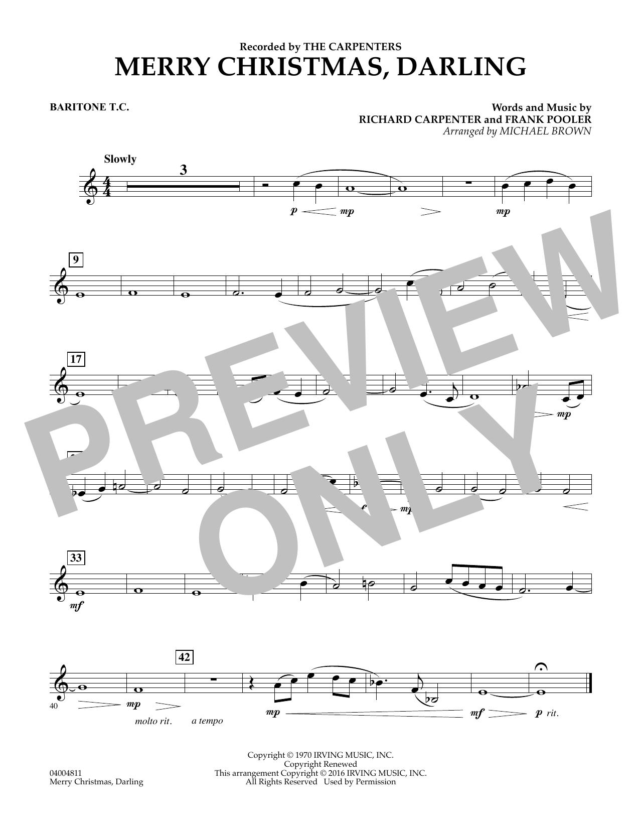 Merry Christmas, Darling - Baritone T.C. (Concert Band)