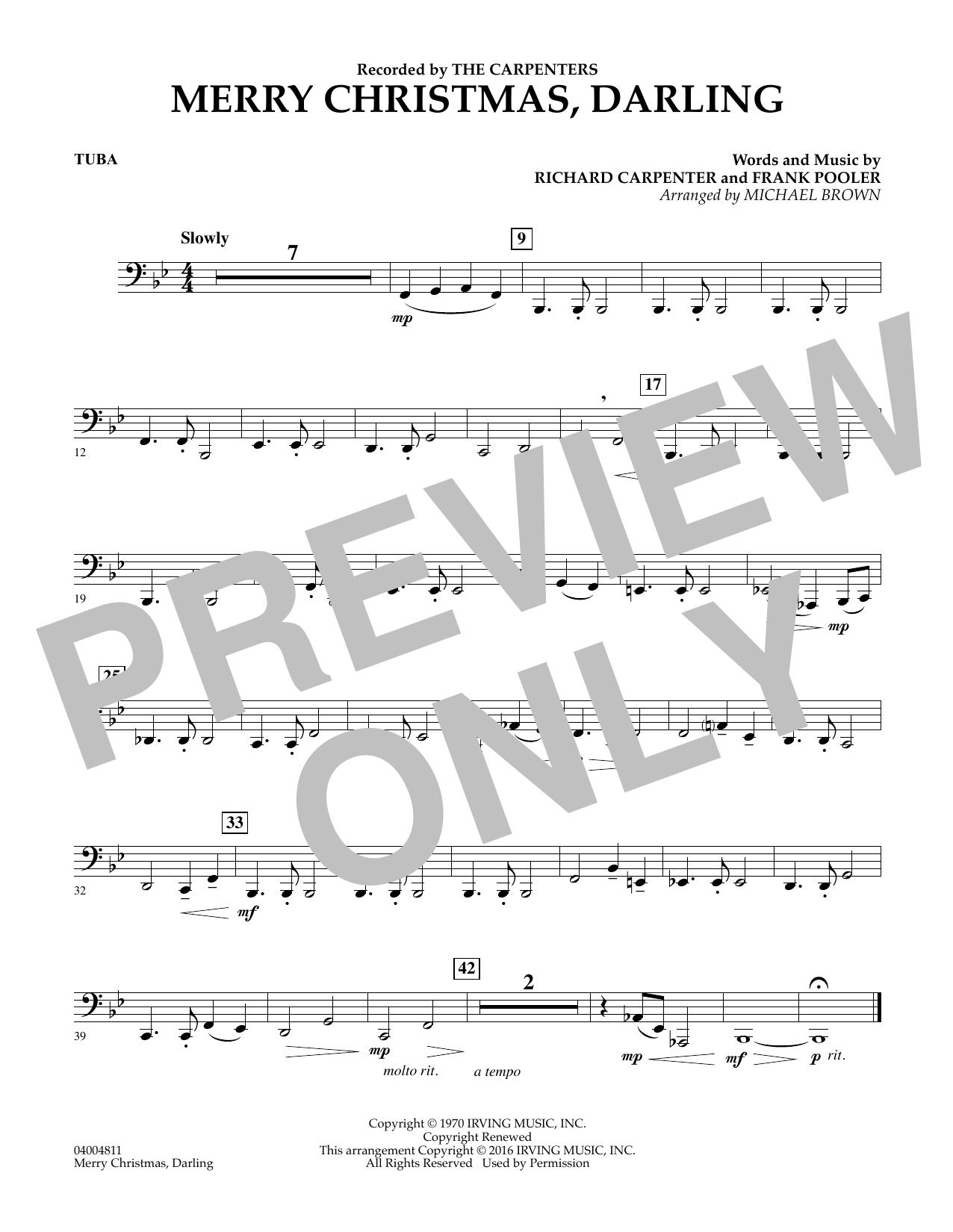 Merry Christmas, Darling - Tuba (Concert Band)