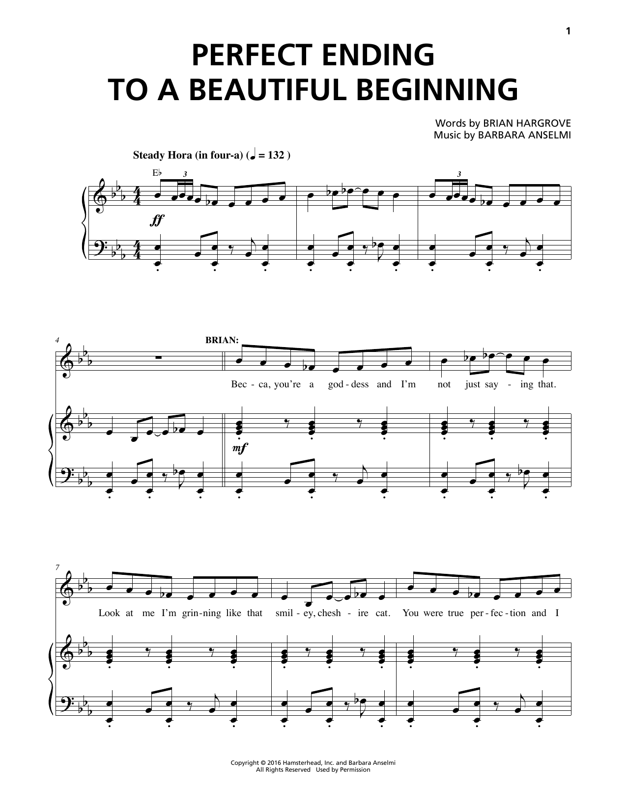 Perfect Ending To A Beautiful Beginning Sheet Music