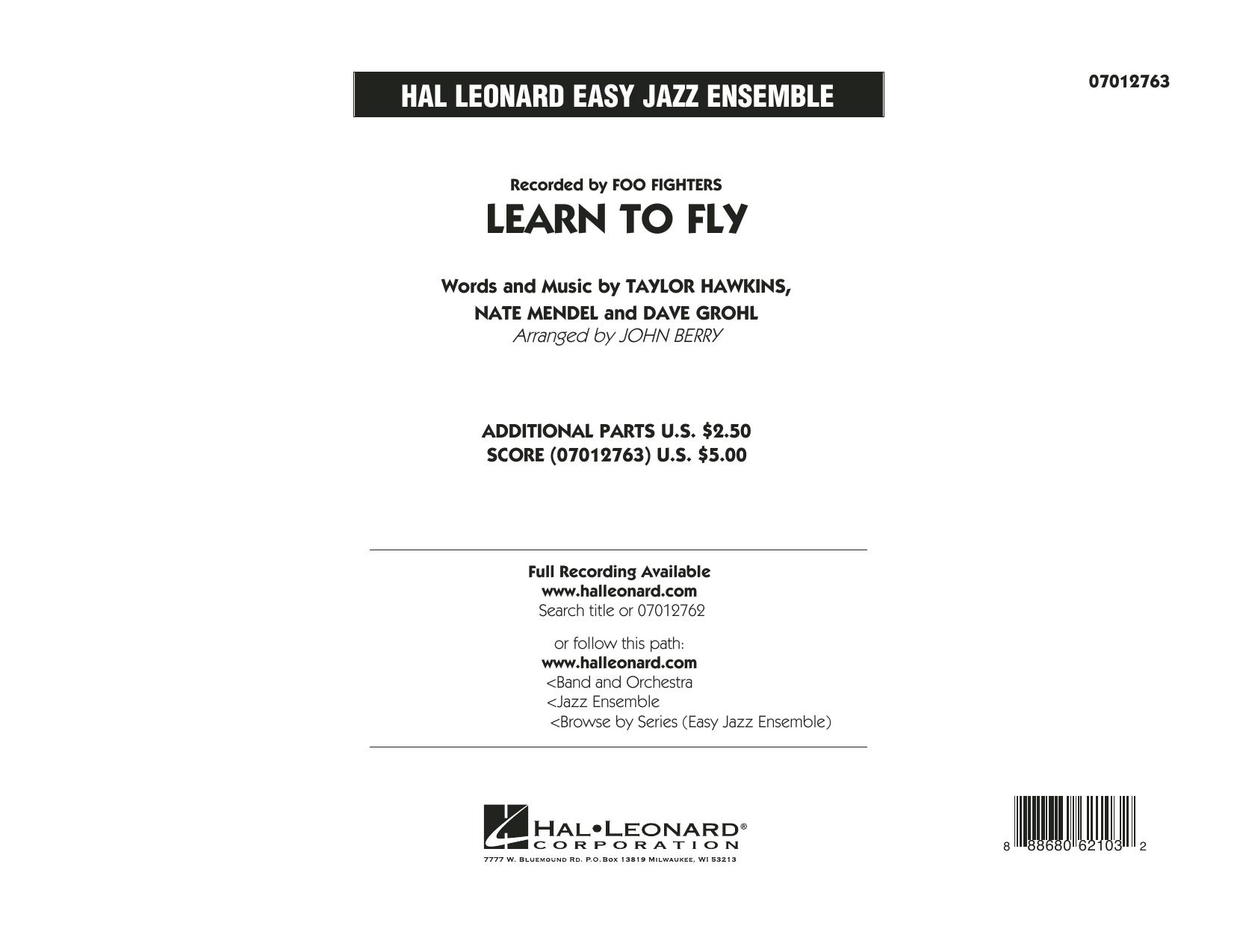 Learn to Fly - Conductor Score (Full Score) (Jazz Ensemble)