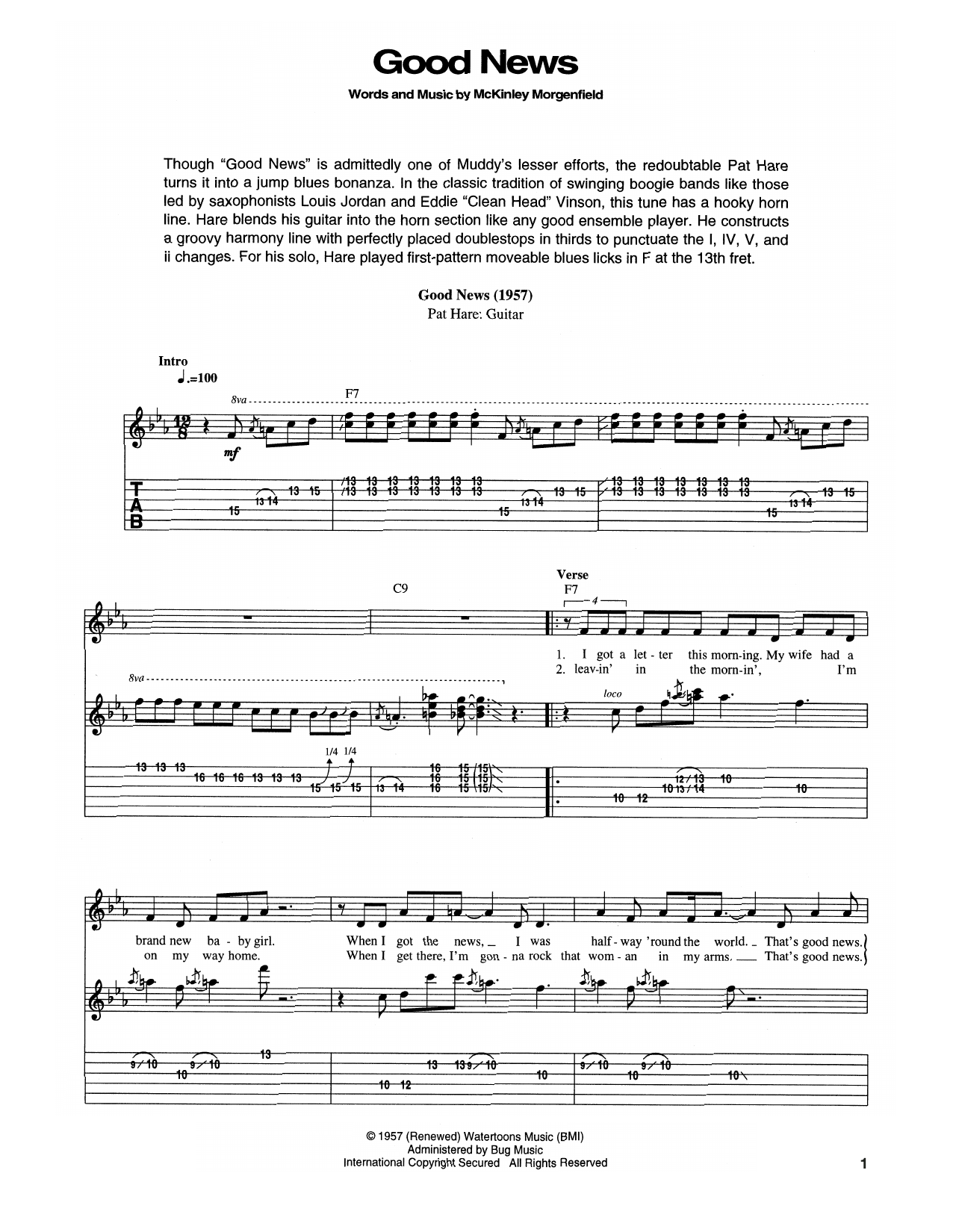 Good News Sheet Music
