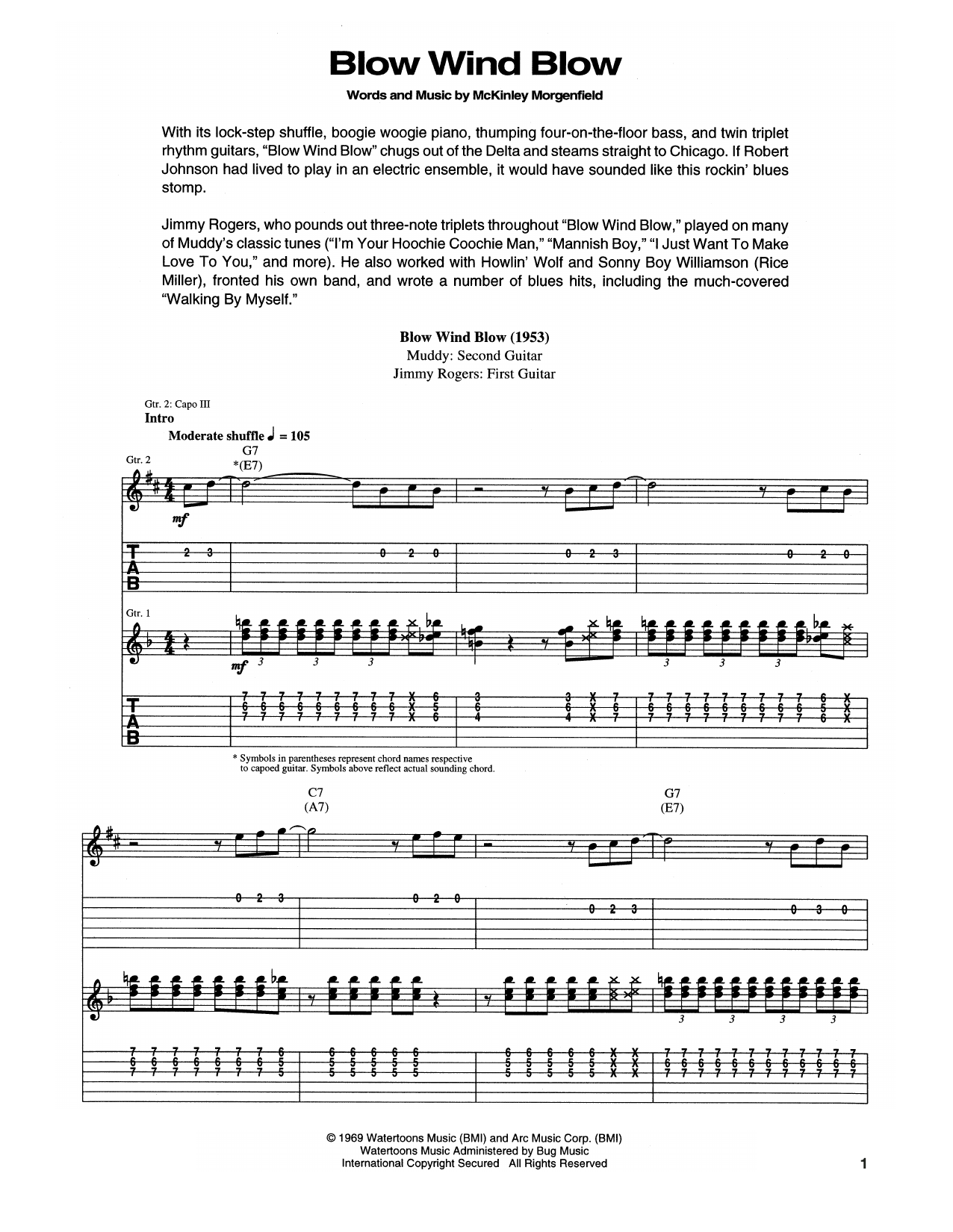Blow, Wind, Blow Sheet Music