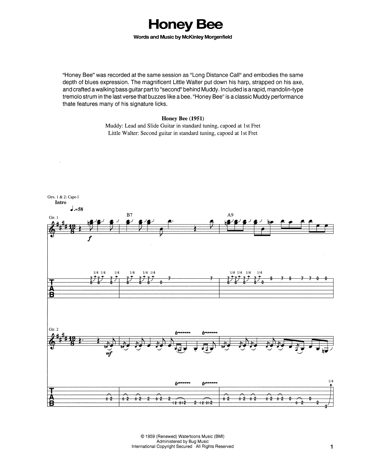Honey Bee Sheet Music