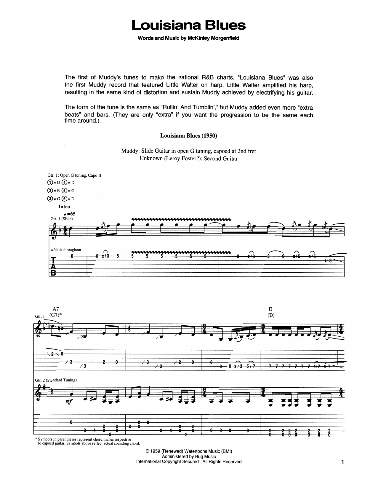 Louisiana Blues Sheet Music