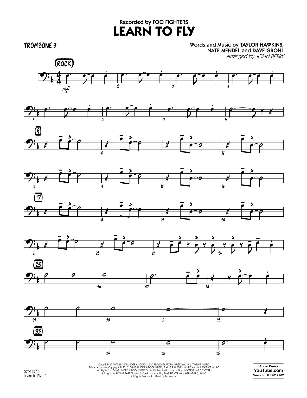 Learn to Fly - Trombone 3 (Jazz Ensemble)