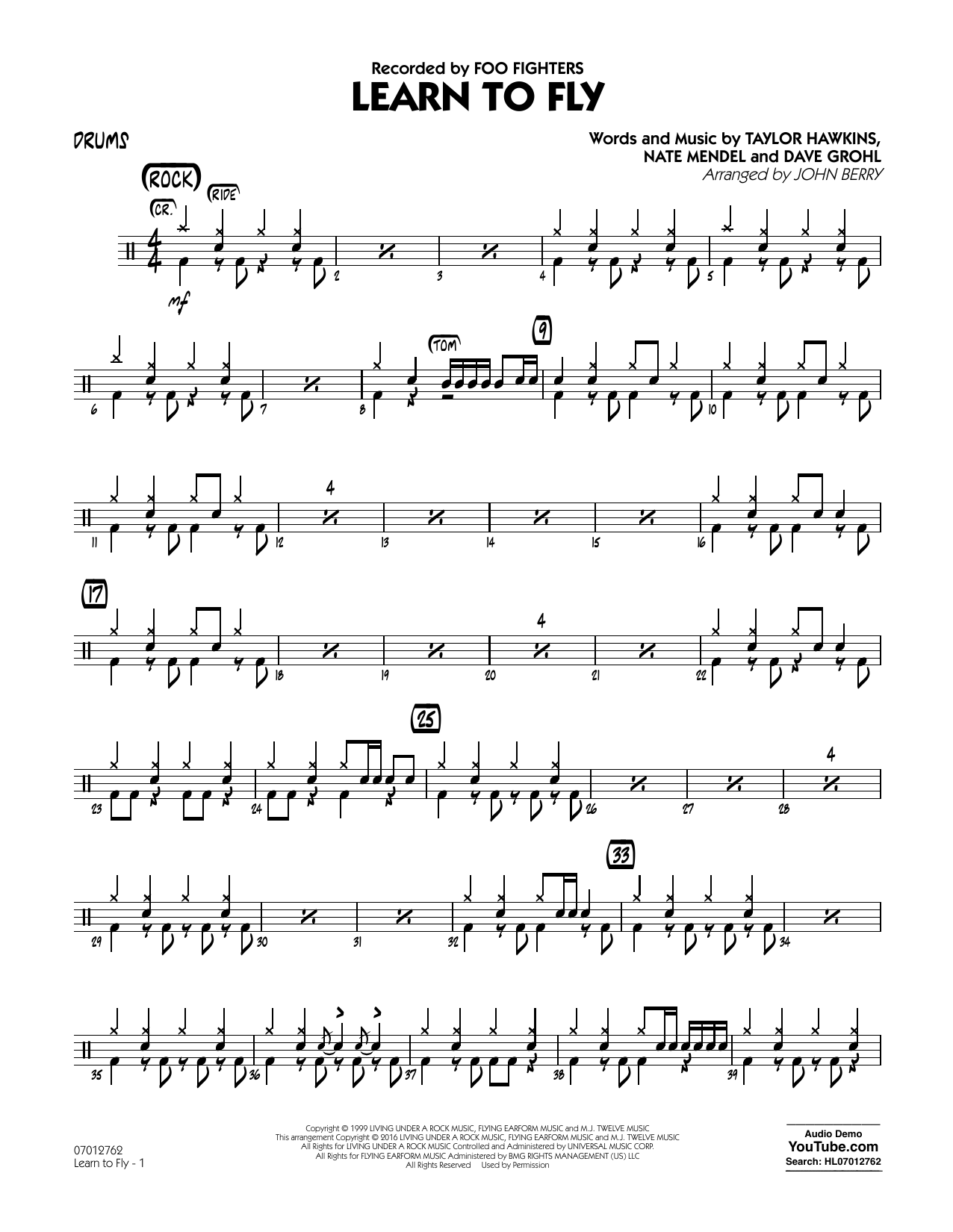 Learn to Fly - Drums (Jazz Ensemble)