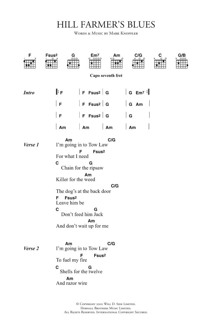 Hill Farmer's Blues Sheet Music