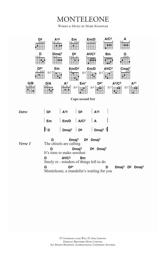 Monteleone Sheet Music