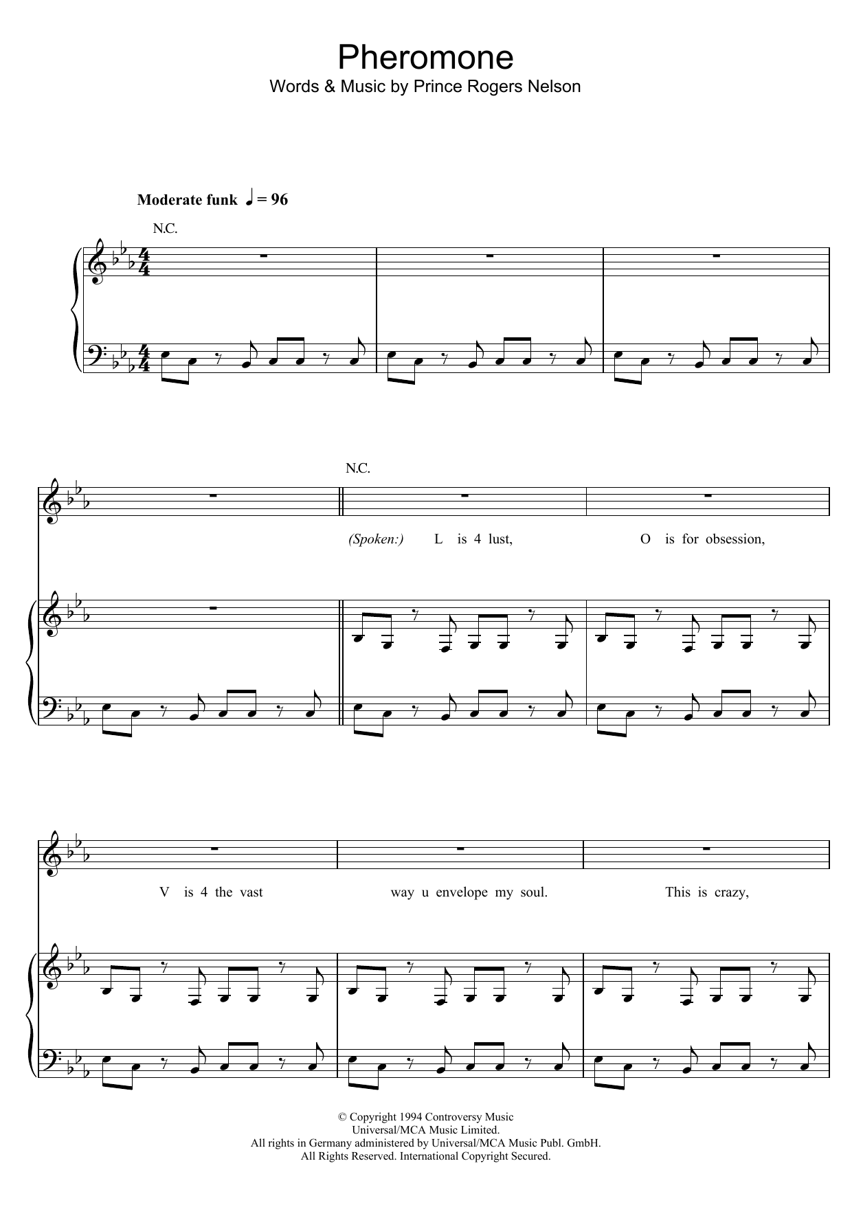 Pheromone Sheet Music