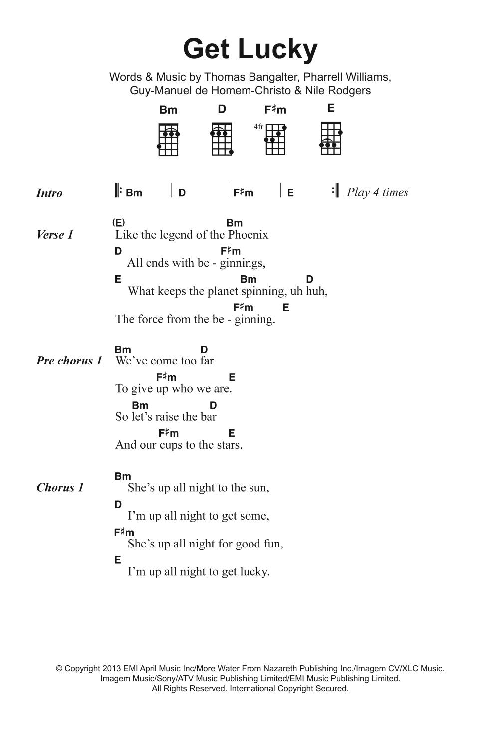 Get Lucky (feat. Pharrell Williams) Sheet Music