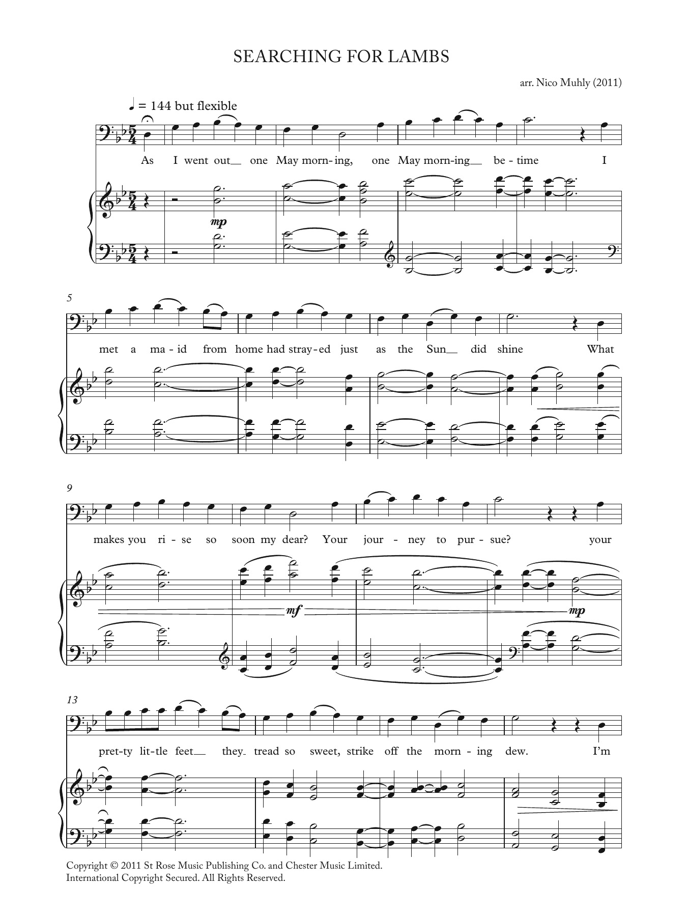 Searching For Lambs (from 'Four Traditional Songs') Sheet Music