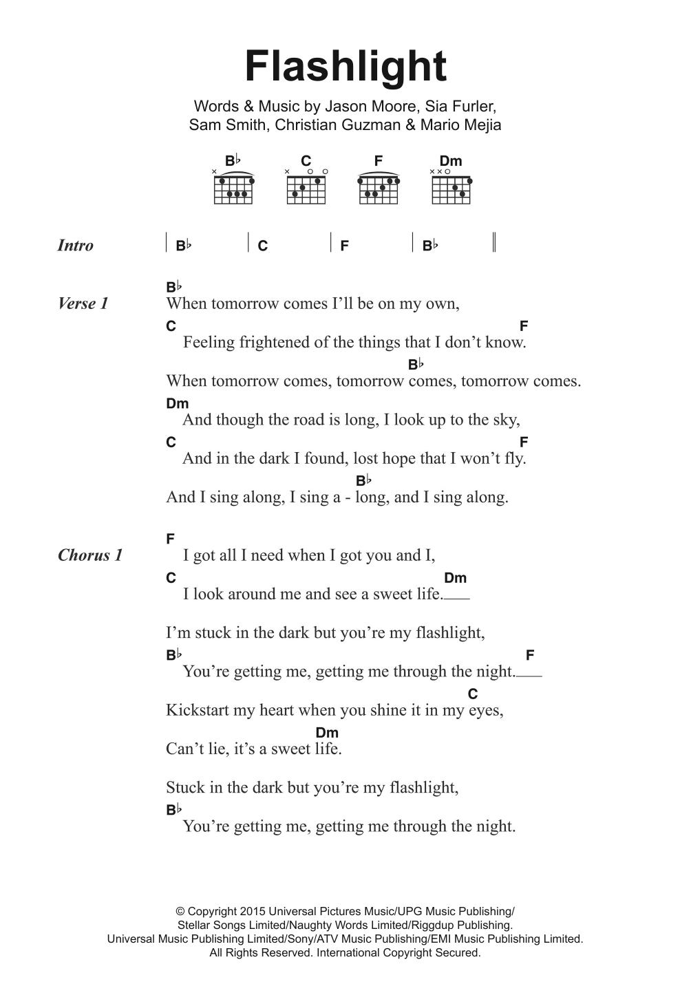 Flashlight Sheet Music