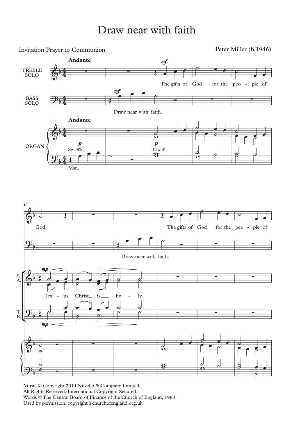 Draw Near With Faith Sheet Music