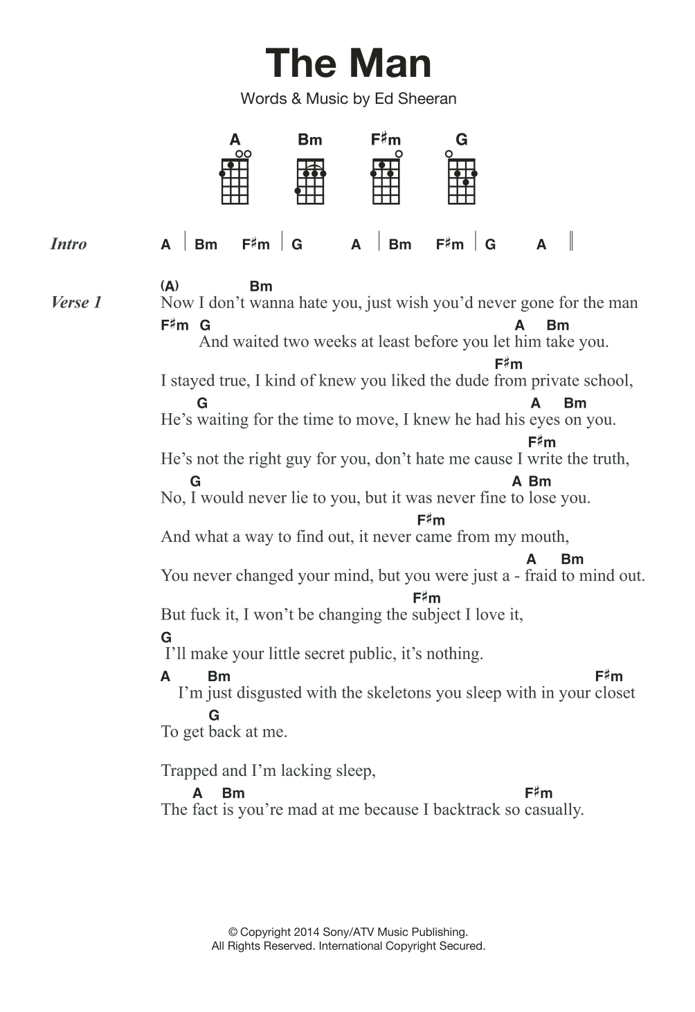 The Man Sheet Music