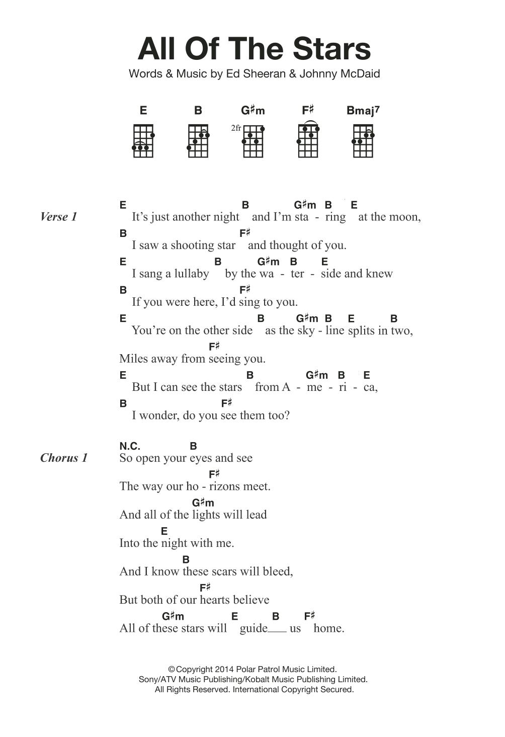 Free download: ed sheeran all of the stars + lyrics | prowl in.