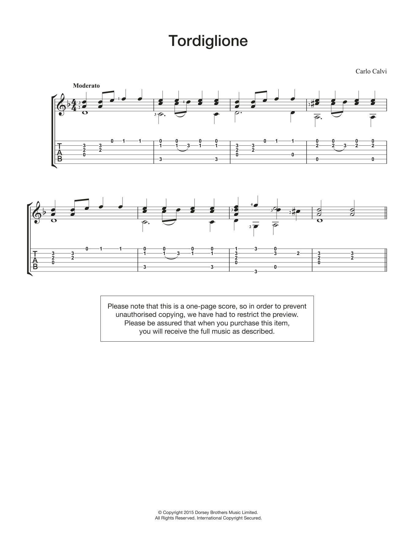 Tordiglione Sheet Music