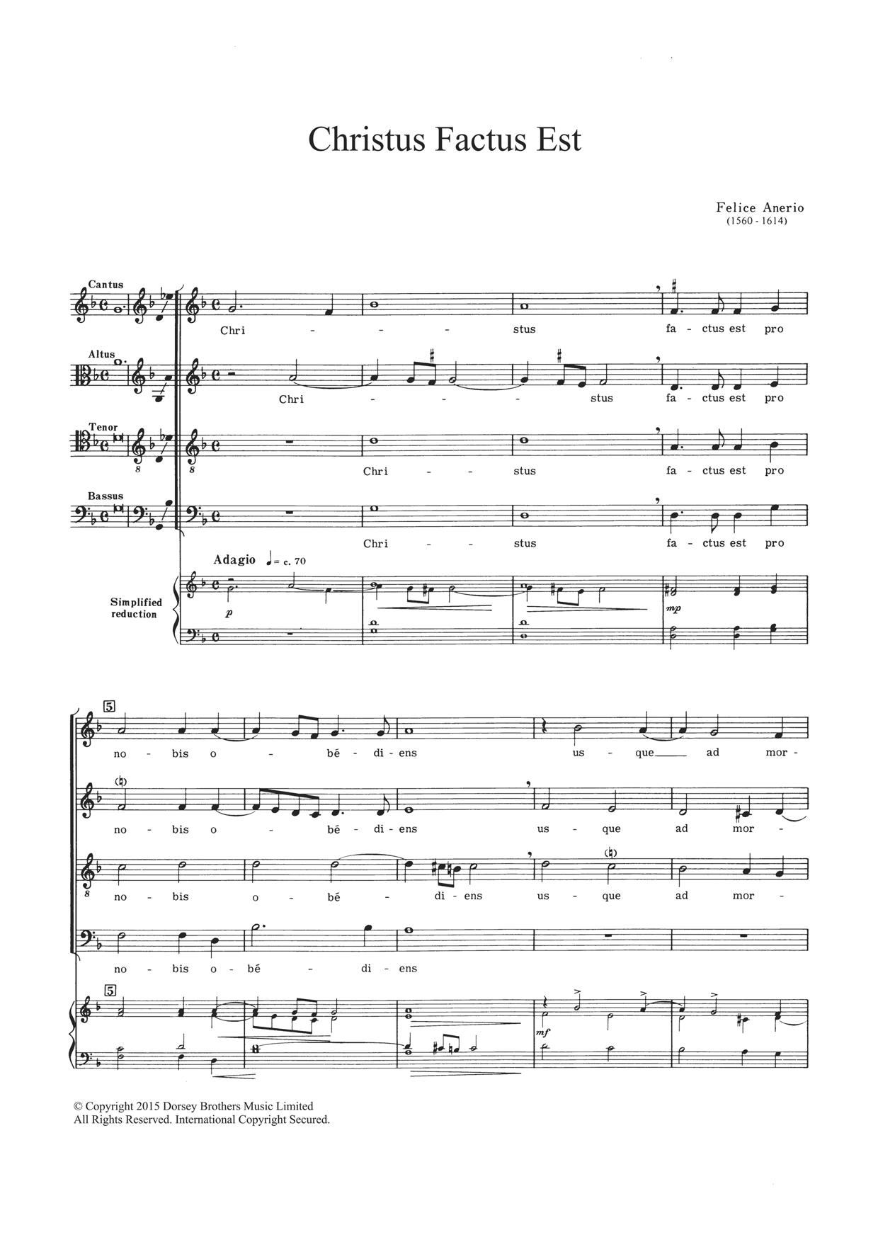 Christus Factus Est Sheet Music
