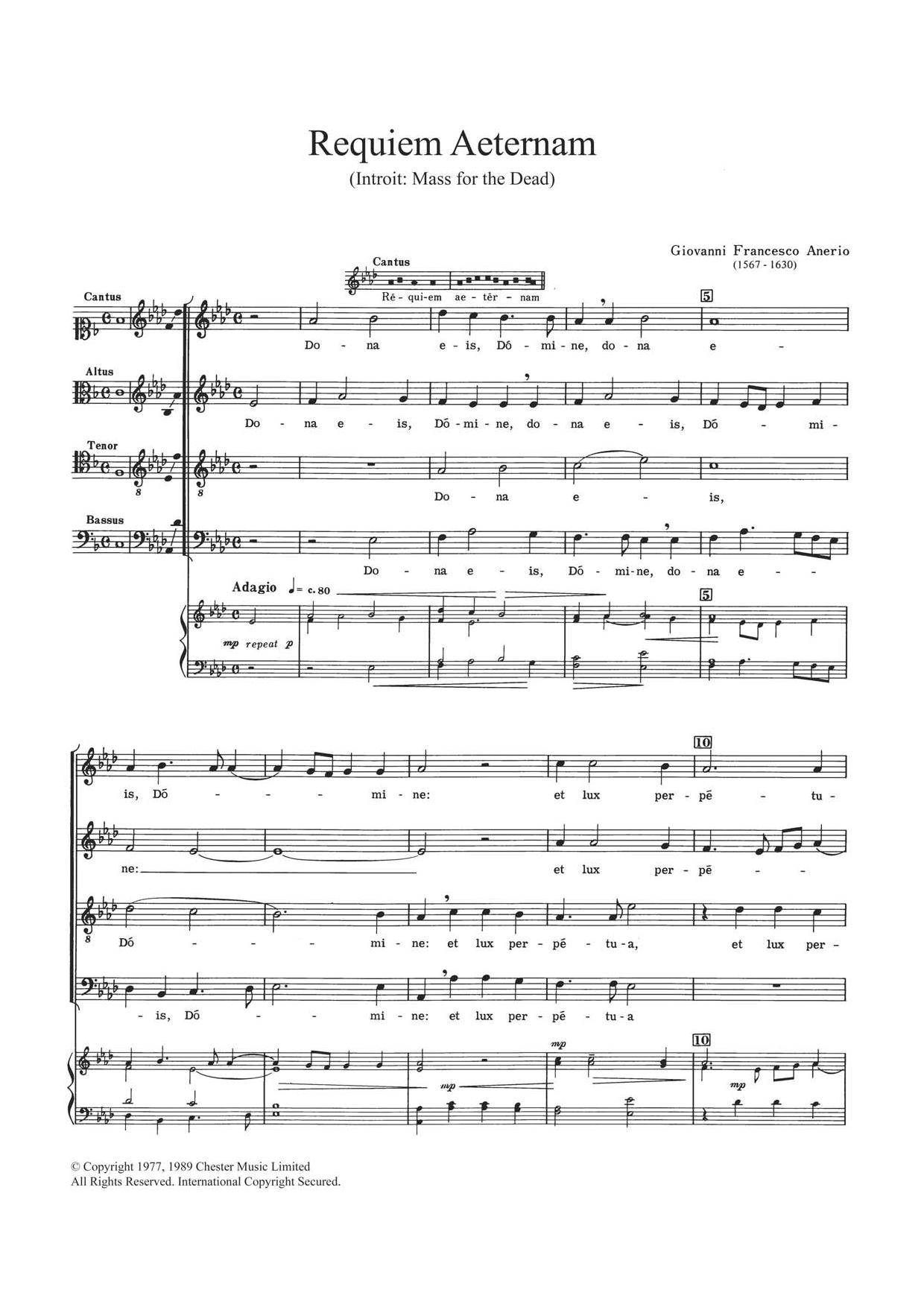 Requiem Aeternam Sheet Music