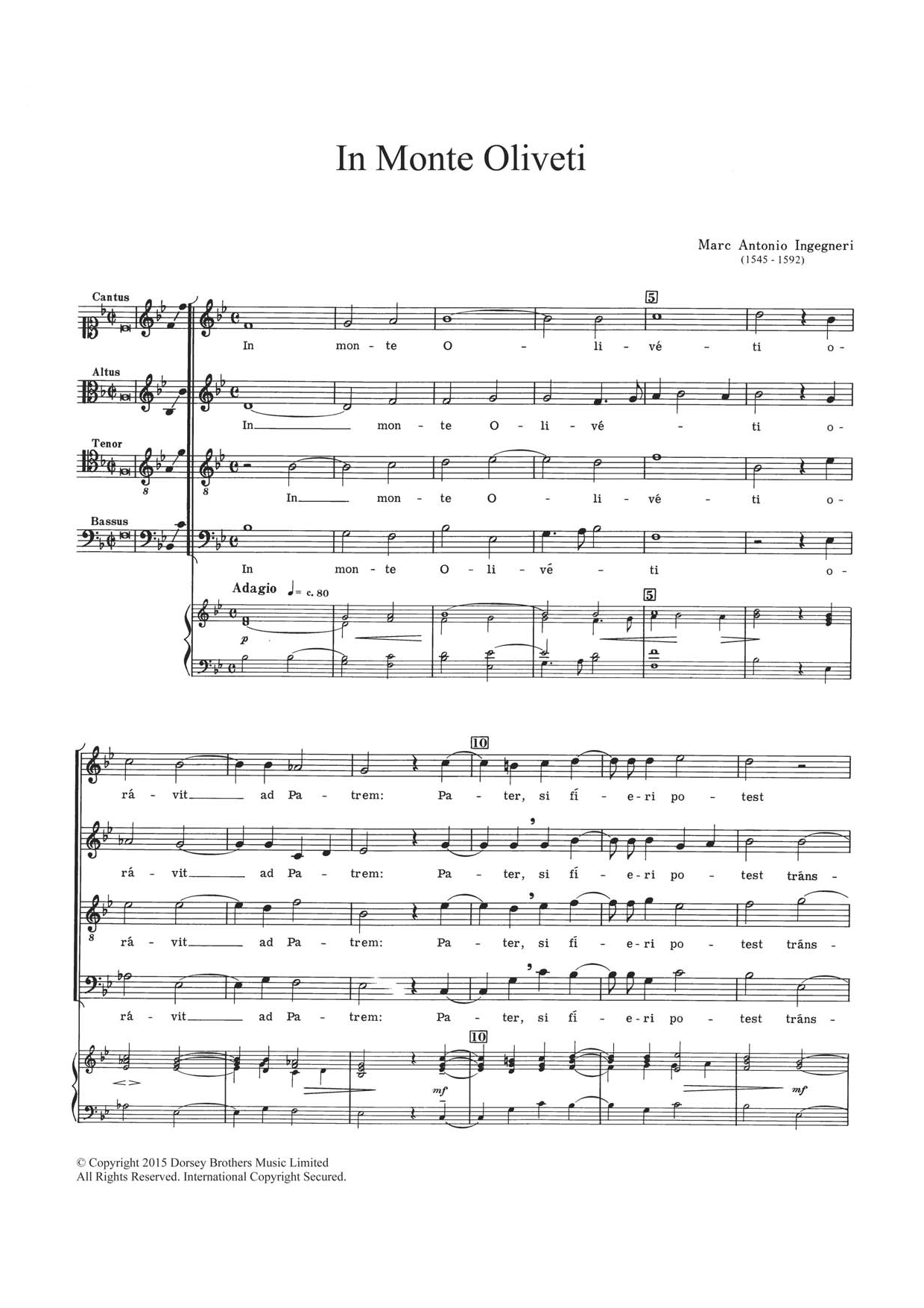 In Monte Oliveti Sheet Music